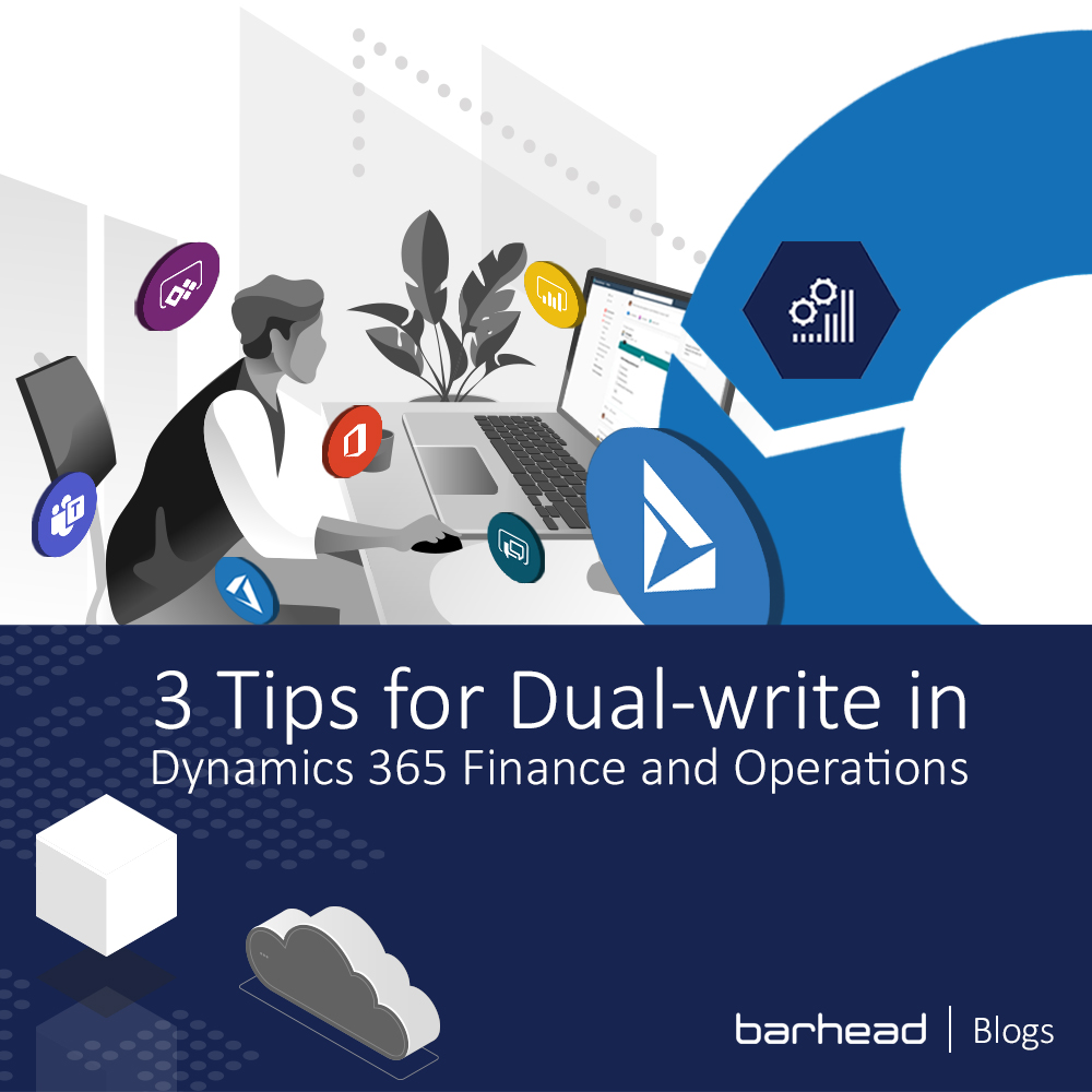 dual write in Dynamics 365 Finance and operations banner