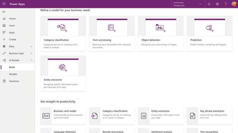 AI Builder Microsoft Power Apps
