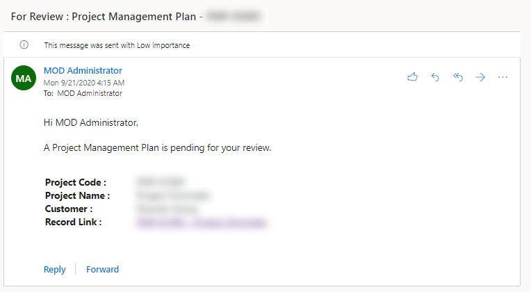 Project Management Plan Email