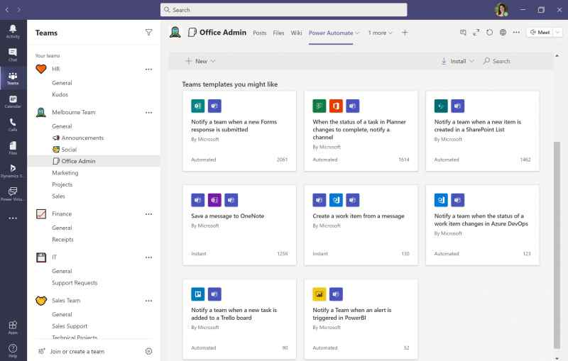 Power Automate in Dataverse for Microsoft Teams
