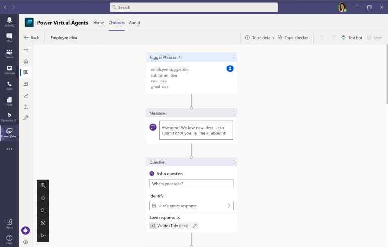 Power Virtual Agents in Dataverse for Microsoft Teams