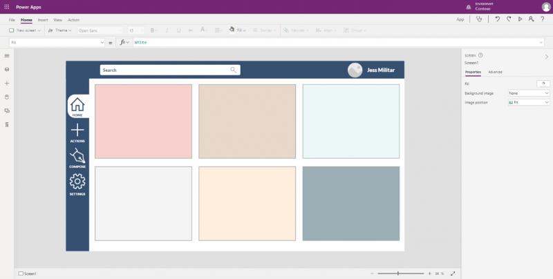 Sidebar Canvas App Template Sample