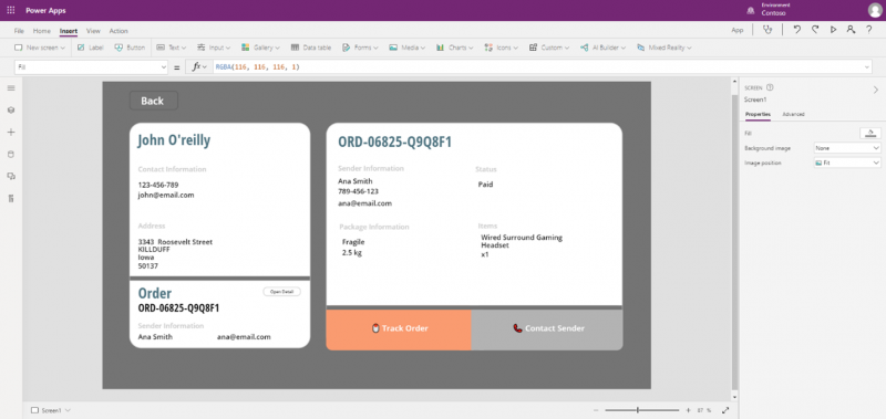 Split-screen template sample